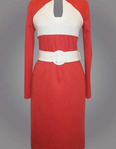"""930 Сукня з трикотажу """"Лакоста"""" з комбінацією кольору"""