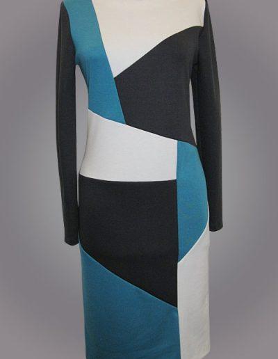 """935 Сукня з трикотажу """"Лакоста"""" з комбінацією кольору"""
