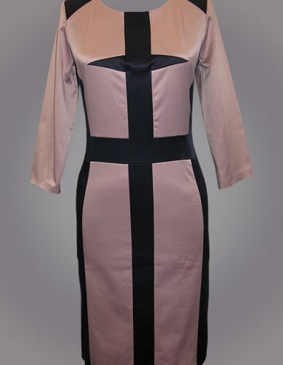 910 Сукня з атласного котону