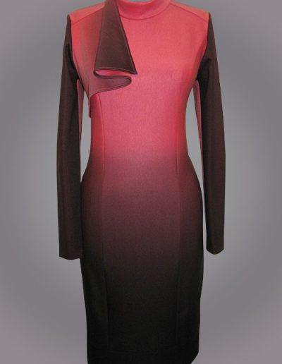 919 Сукня трикотажна з розтяжкою кольору
