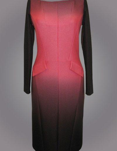 918 Сукня трикотажна з розтяжкою кольору