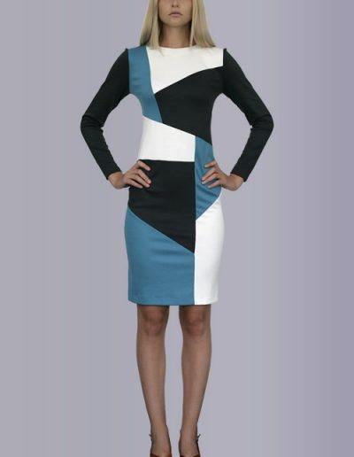 """35 Сукня з комбінованого трикотажу """"Лакоста"""""""