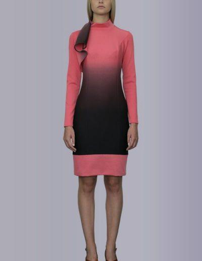 918 Сукня з трикотажу джерсі з розтяжкою кольору