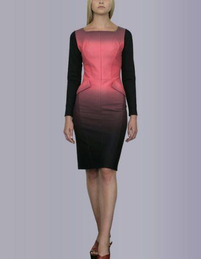 919 Сукня з трикотажу джерсі з розтяжкою кольору